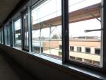 Blick aus den neuen Physikräumen